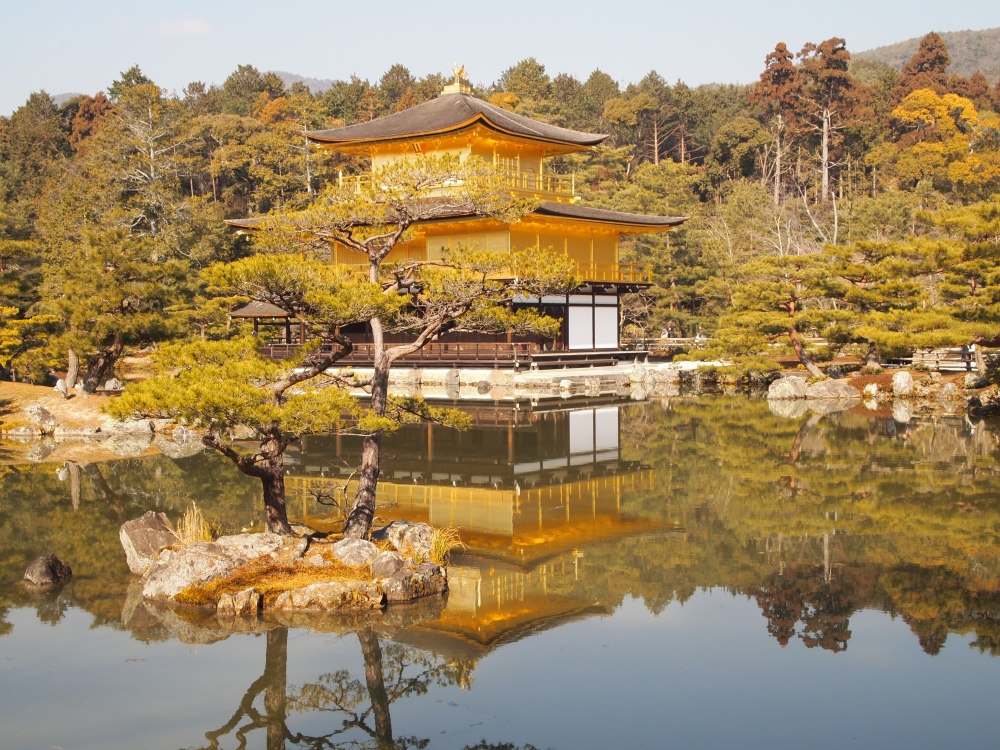 the golden pavilion at kinkaku-ji