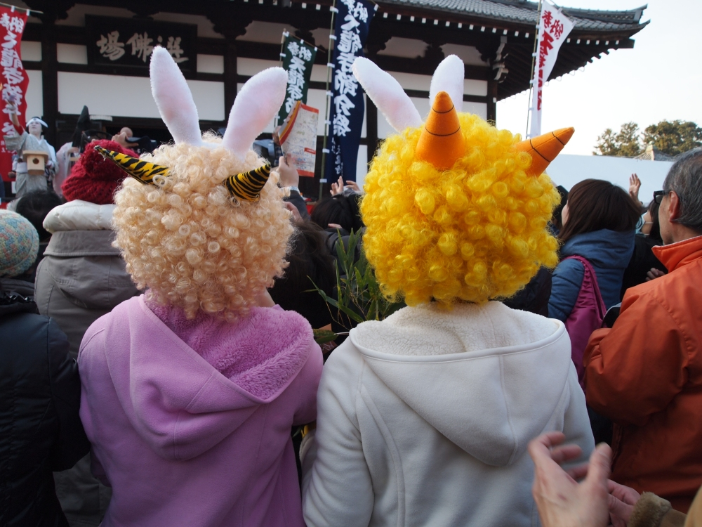costumed characters celebrating the lunar new year