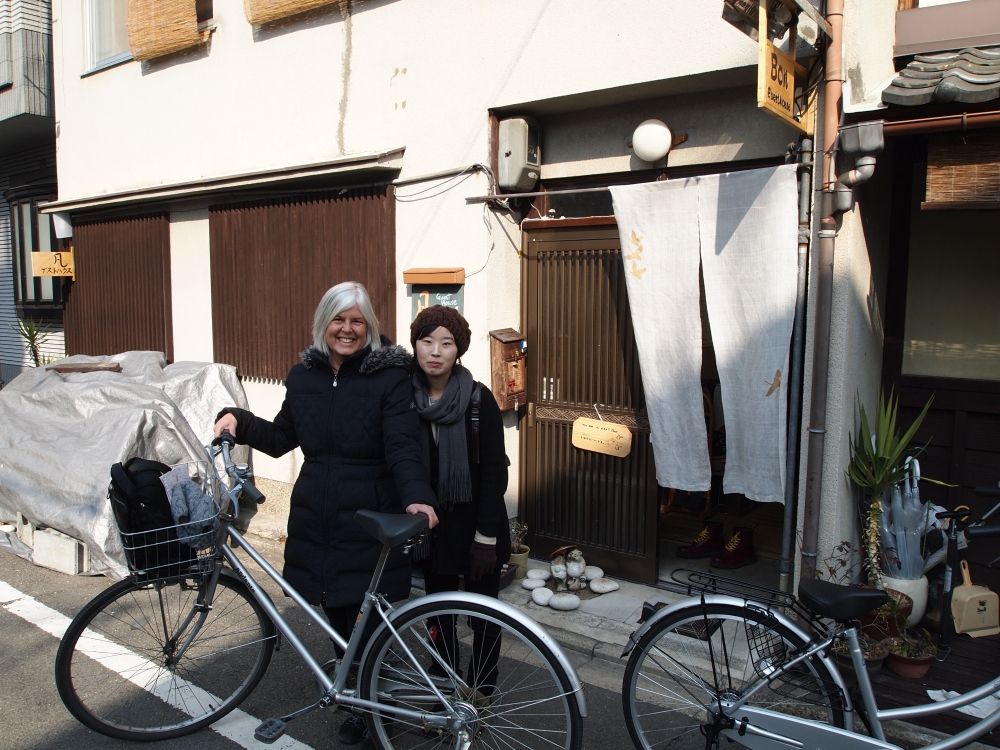 Me, JiYoung and our old-fashioned bicyles