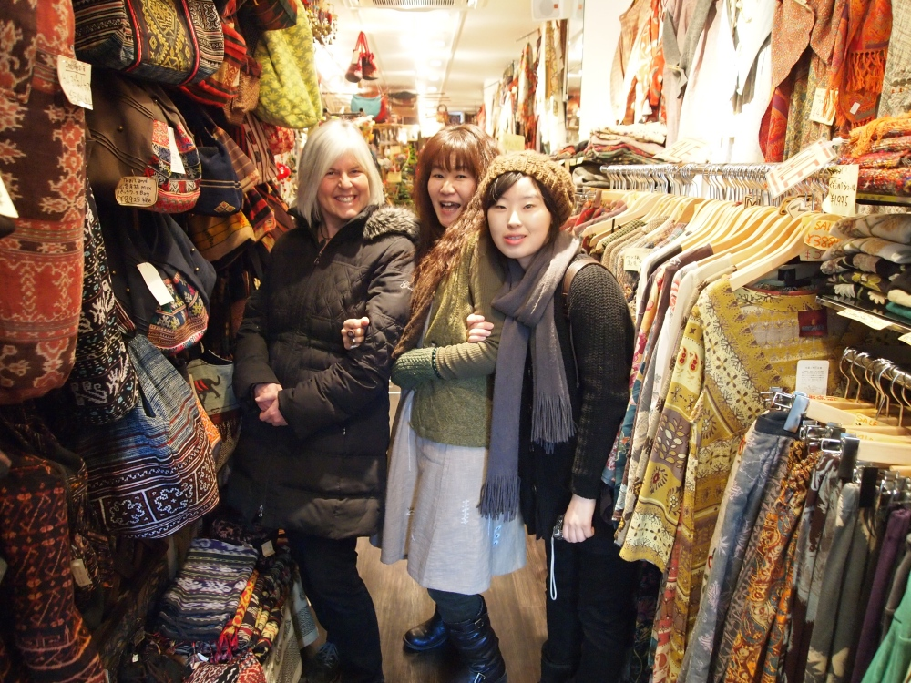 Me, the Japanese owner and JiYoung in one of our favorite shops