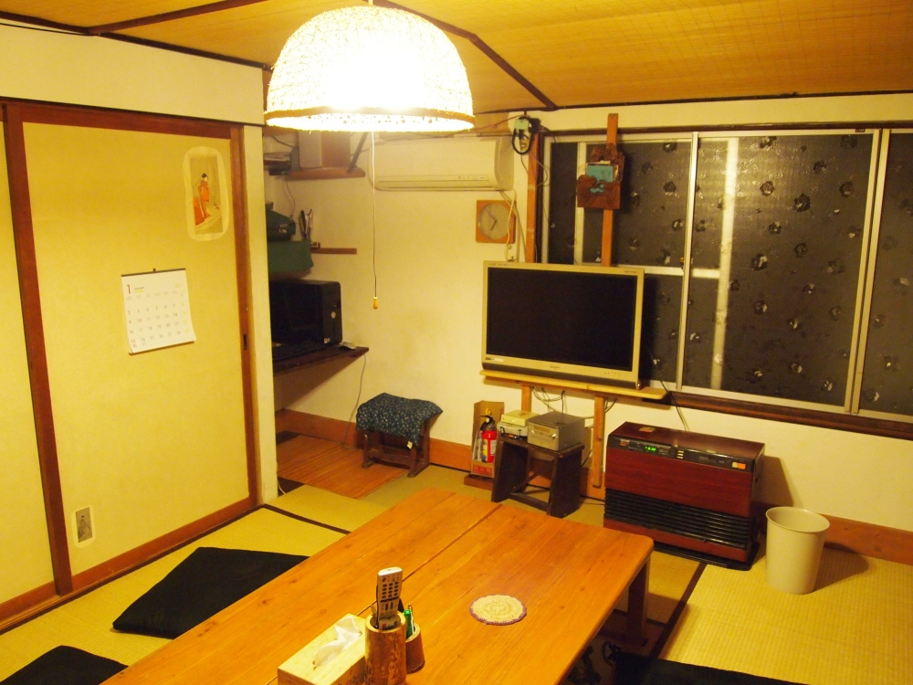 "the communal room in the ""bon"" guesthouse"