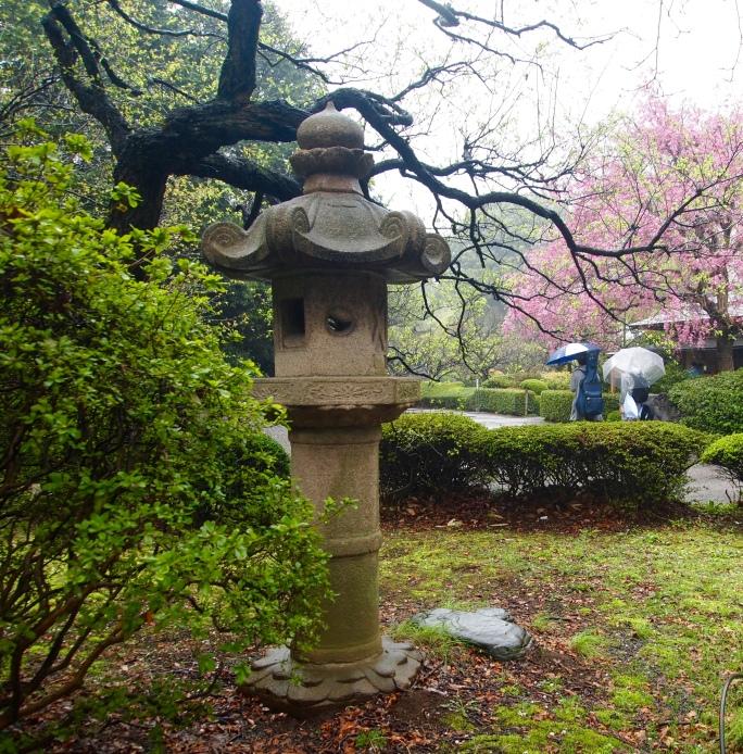 a stone lantern
