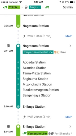 Nagatsuta to Shibuya