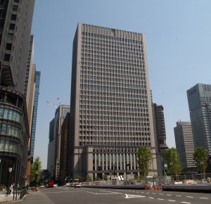 On the way from Tokyo Station to the Imperial Gardens