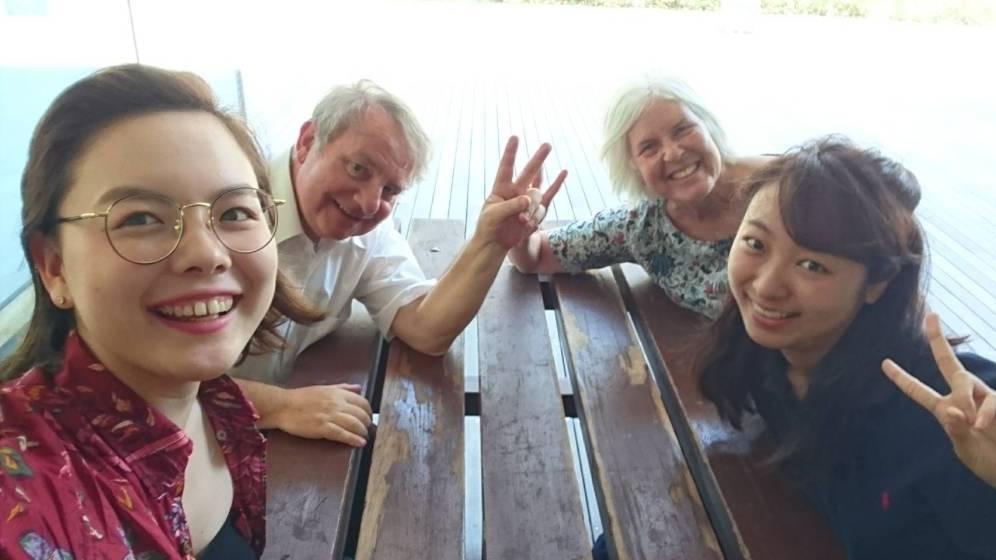 Rena, Graham, me and Emiko