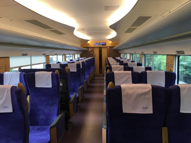 the almost empty train to Nikko