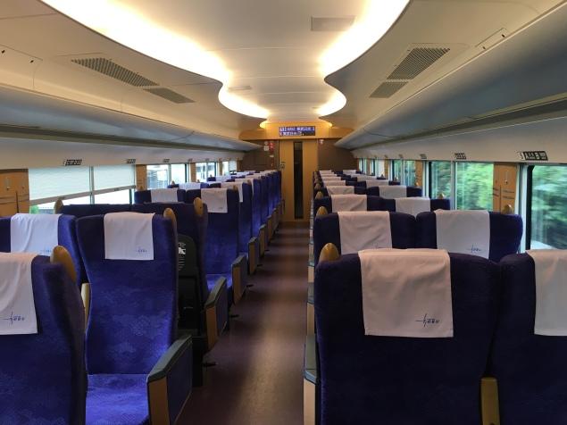 the almost empty train to Nikko