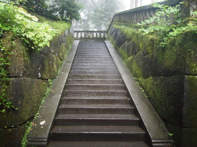 Steps to the Okumiya (Inner Shrine)