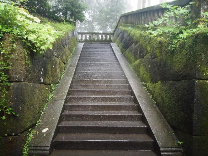 Steps to the Okumiya (Inner Shrine)