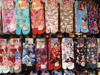 socks with blossoms