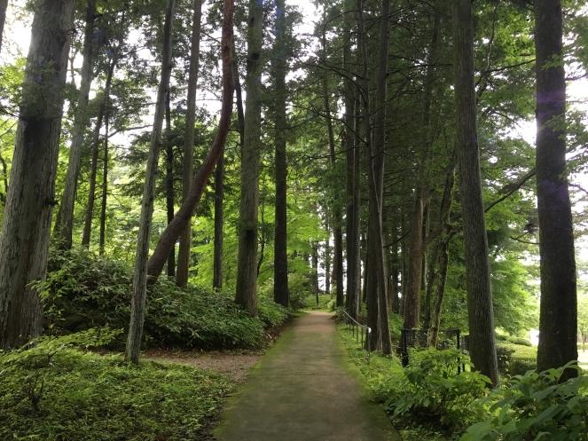 pathway at Tamozawa Imperial Villa
