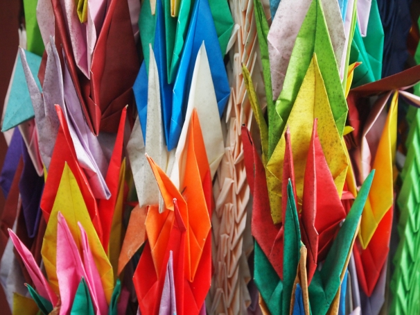 Origami cranes at Sugegasa Higiri Jizo