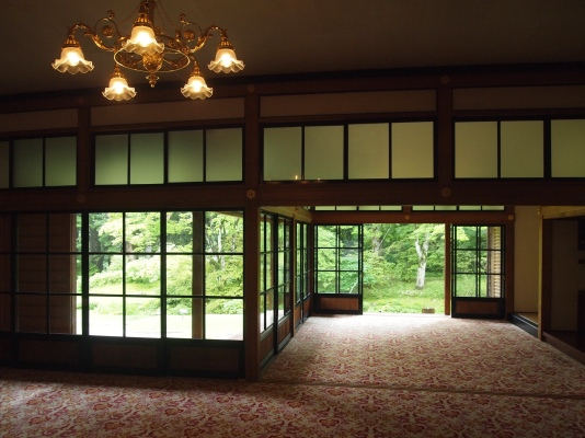 interior of Tamozawa Imperial Villa