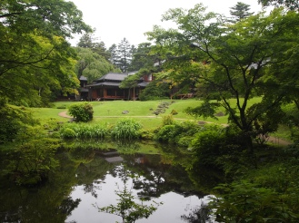 pond at Tamozawa Imperial Villa