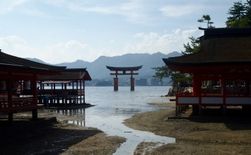The O-torii Gate as seen from Itsukushima Shrine