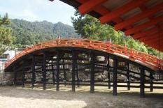 bridge at Itsukushima Shrine