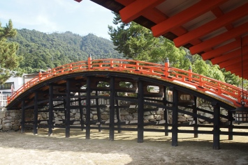bridge at Itsukushima Shrine