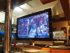 baseball at the local diner