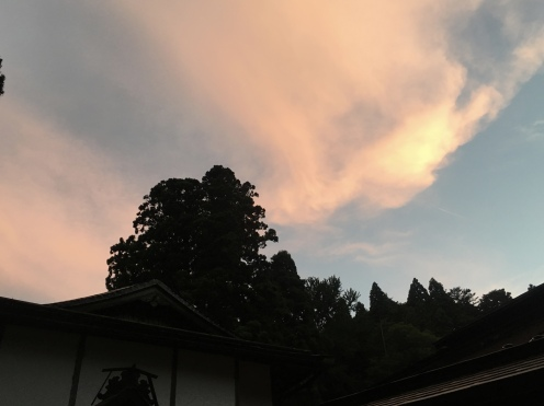 sunset at Koyasan