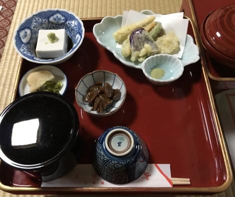 dinner at Kumagaiji