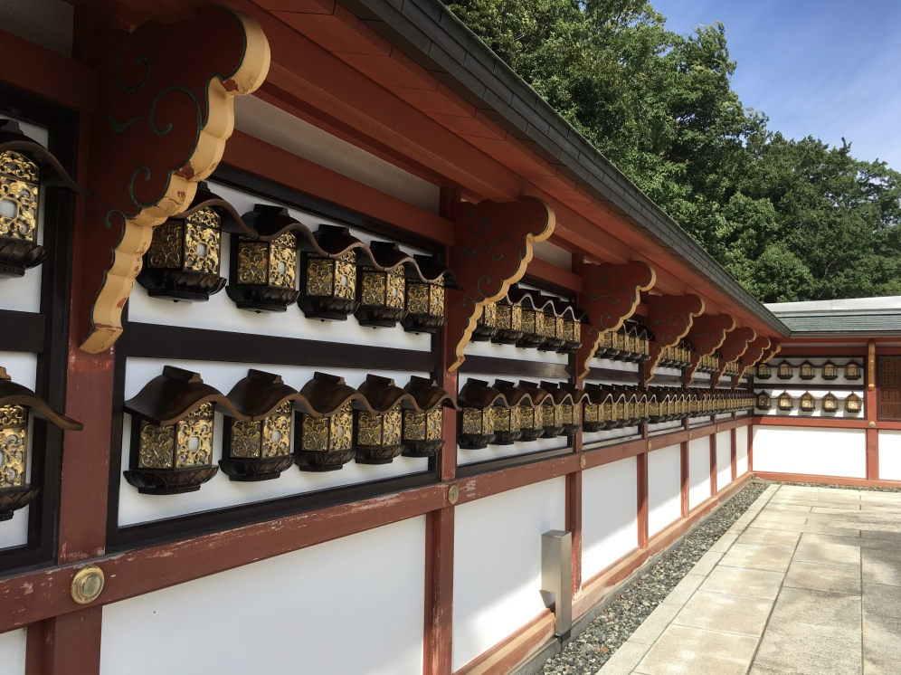 lanterns around Shotoku-taishi-do