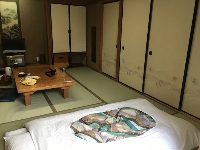 My room at Ryokan Wakamatsu Honten